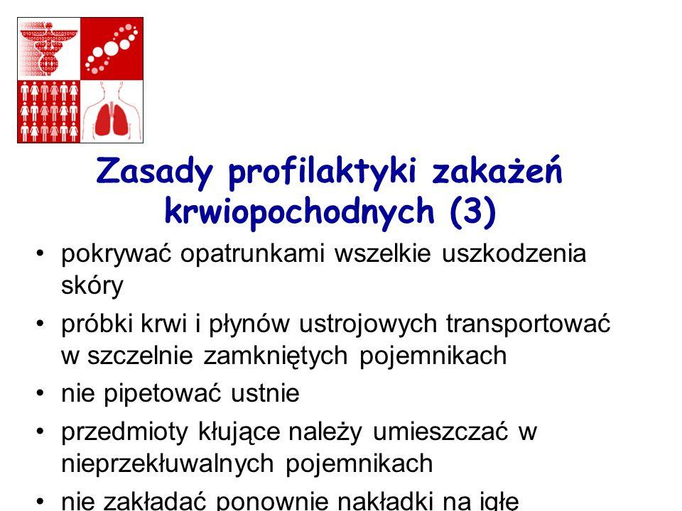 Zasady profilaktyki zakażeń krwiopochodnych (3)