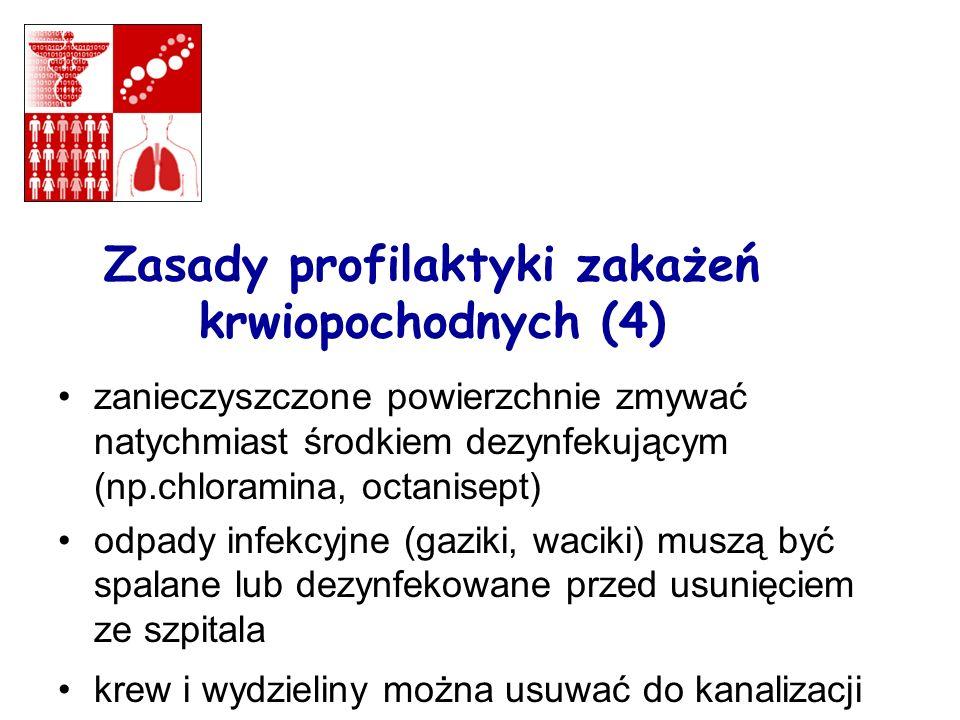 Zasady profilaktyki zakażeń krwiopochodnych (4)