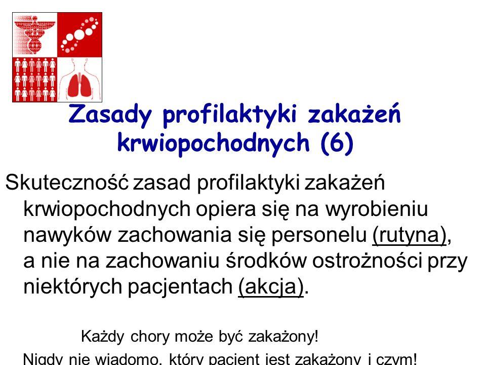 Zasady profilaktyki zakażeń krwiopochodnych (6)