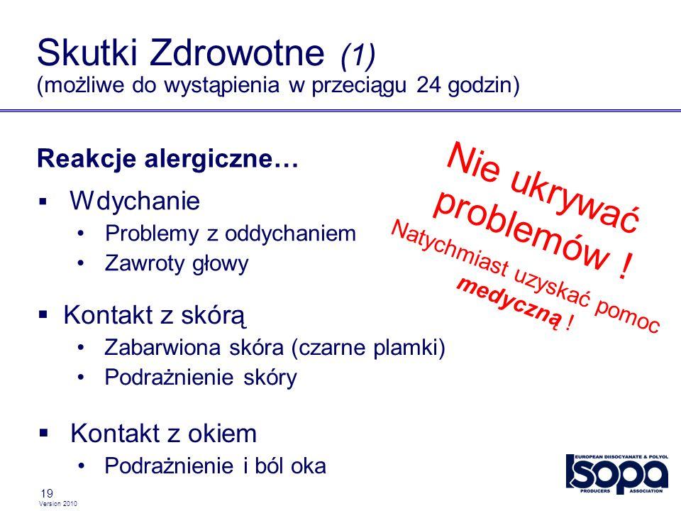 Skutki Zdrowotne (1) (możliwe do wystąpienia w przeciągu 24 godzin)