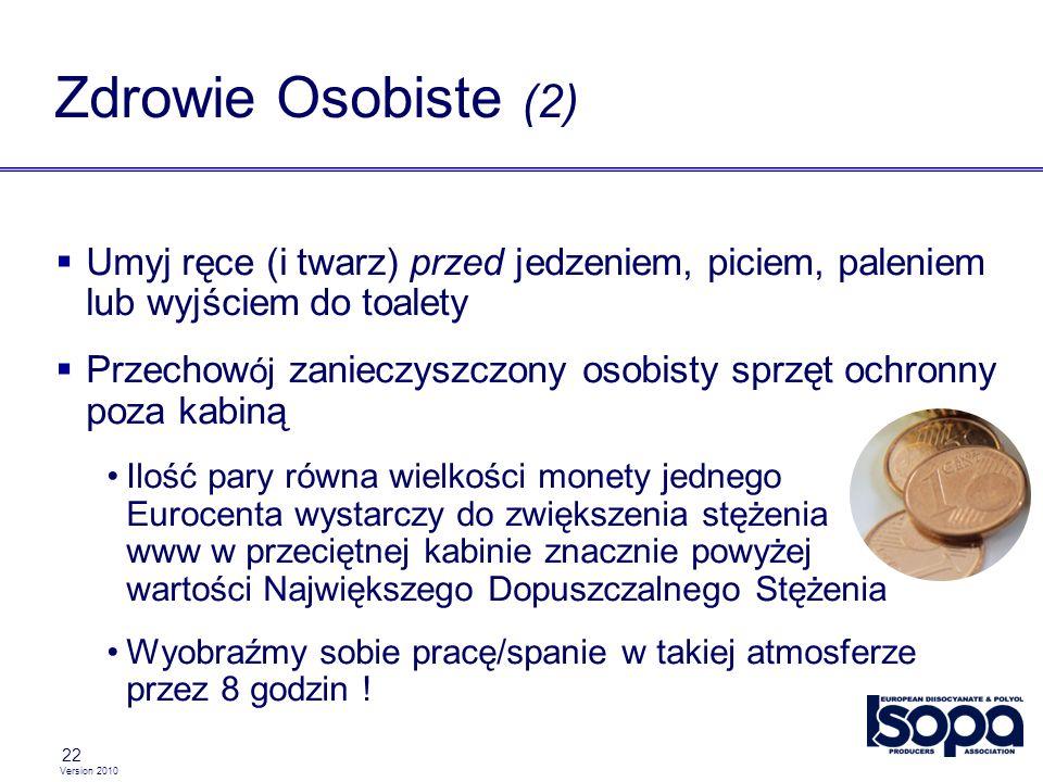 Zdrowie Osobiste (2) Umyj ręce (i twarz) przed jedzeniem, piciem, paleniem lub wyjściem do toalety.