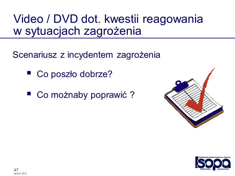 Video / DVD dot. kwestii reagowania w sytuacjach zagrożenia