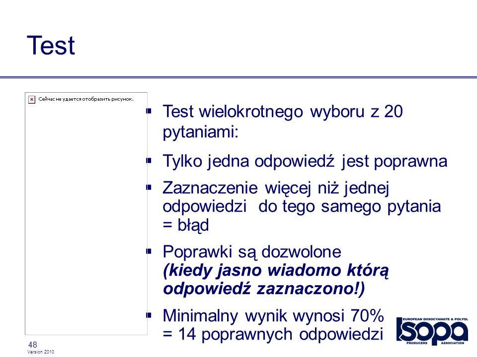 Test Test wielokrotnego wyboru z 20 pytaniami: