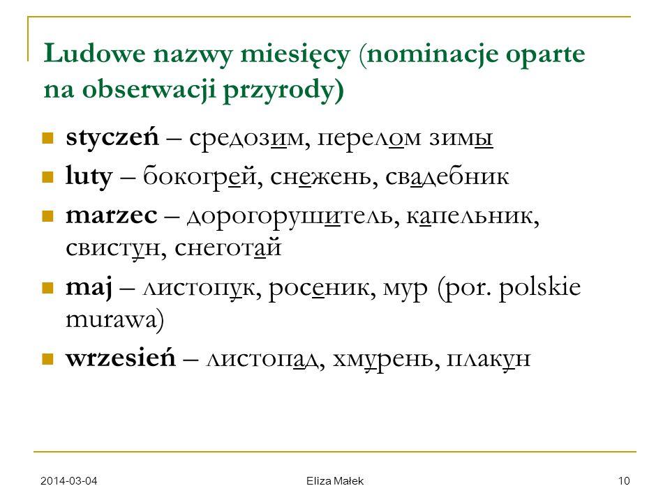 Ludowe nazwy miesięcy (nominacje oparte na obserwacji przyrody)