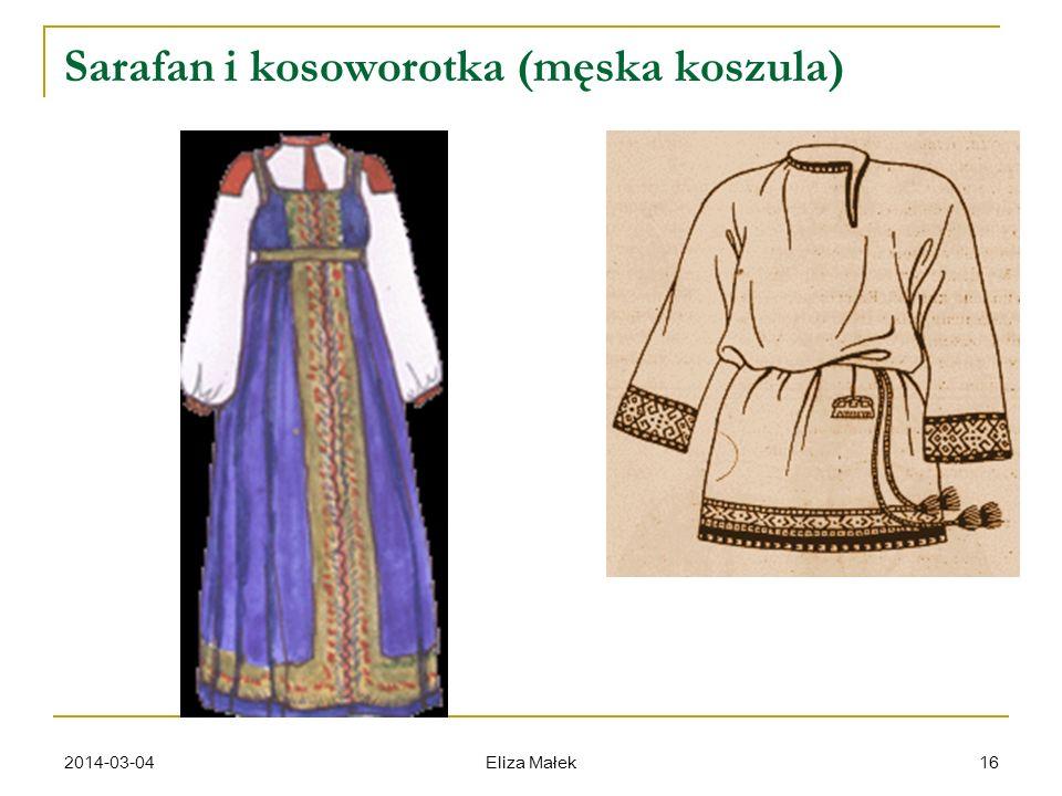 Sarafan i kosoworotka (męska koszula)