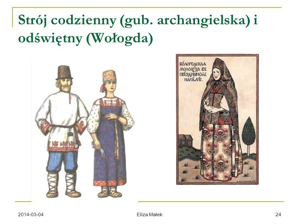 Strój codzienny (gub. archangielska) i odświętny (Wołogda)