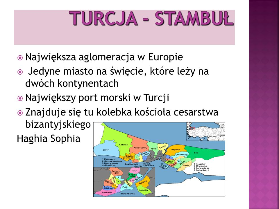 TURCJA - STAMBUŁ Największa aglomeracja w Europie