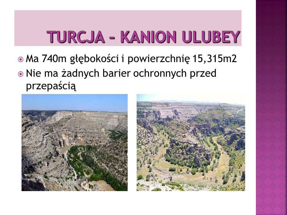 TURCJA – Kanion Ulubey Ma 740m głębokości i powierzchnię 15,315m2