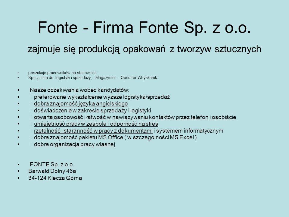 Fonte - Firma Fonte Sp. z o. o