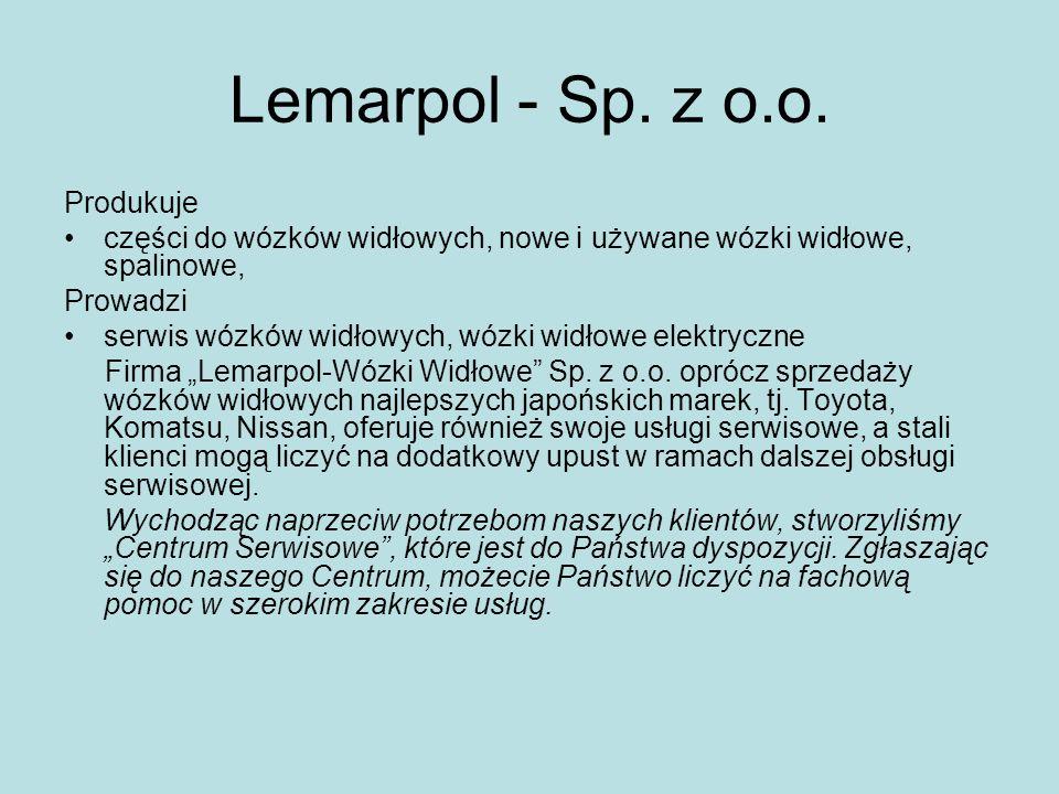 Lemarpol - Sp. z o.o. Produkuje