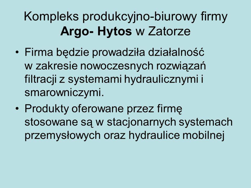 Kompleks produkcyjno-biurowy firmy Argo- Hytos w Zatorze
