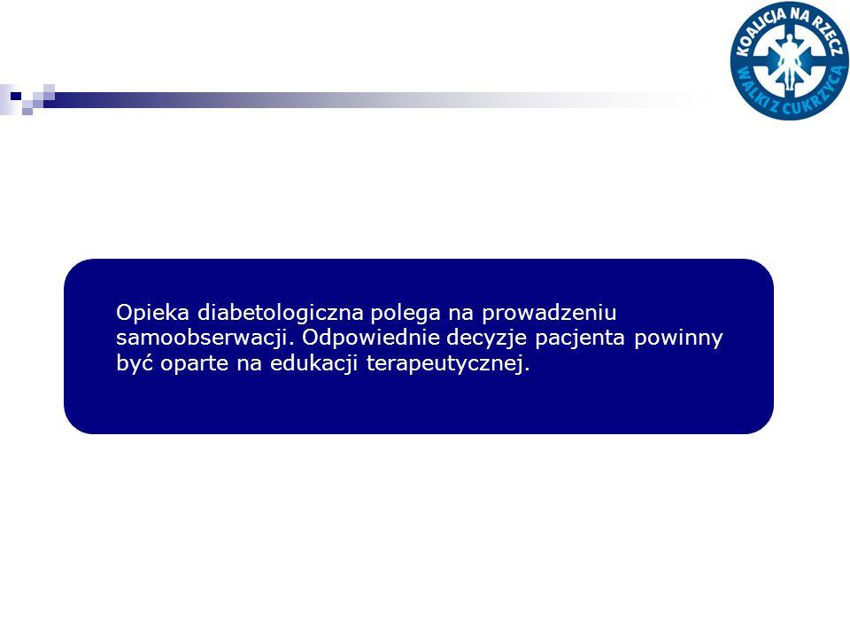 Opieka diabetologiczna polega na prowadzeniu samoobserwacji