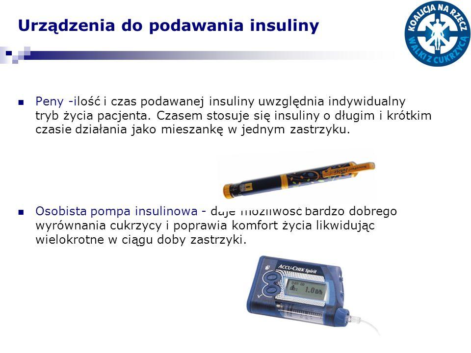 Urządzenia do podawania insuliny