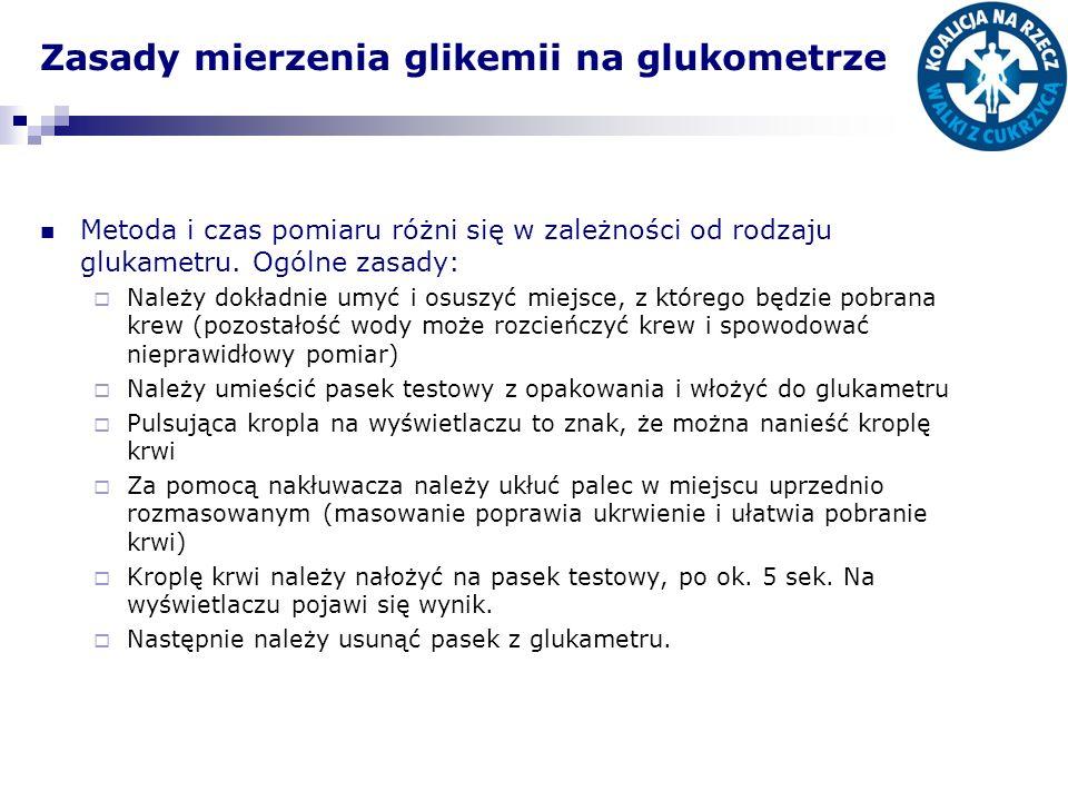 Zasady mierzenia glikemii na glukometrze