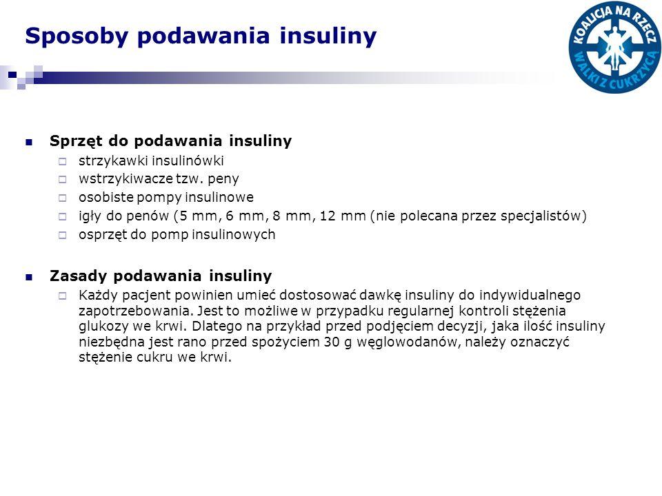 Sposoby podawania insuliny
