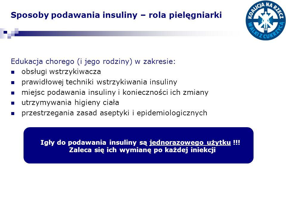 Sposoby podawania insuliny – rola pielęgniarki