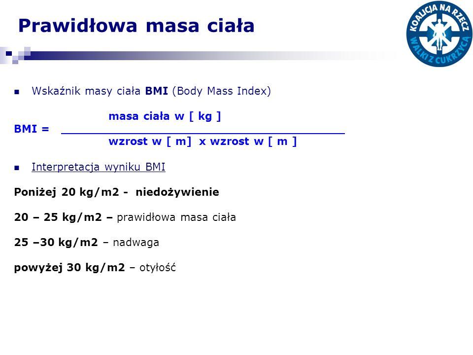 Prawidłowa masa ciała Wskaźnik masy ciała BMI (Body Mass Index)