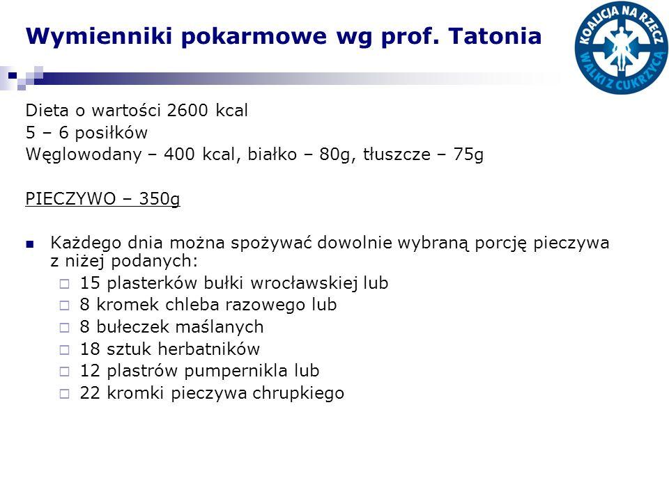 Wymienniki pokarmowe wg prof. Tatonia
