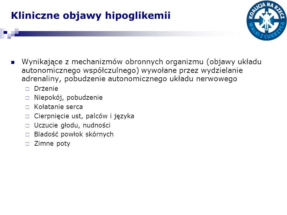 Kliniczne objawy hipoglikemii