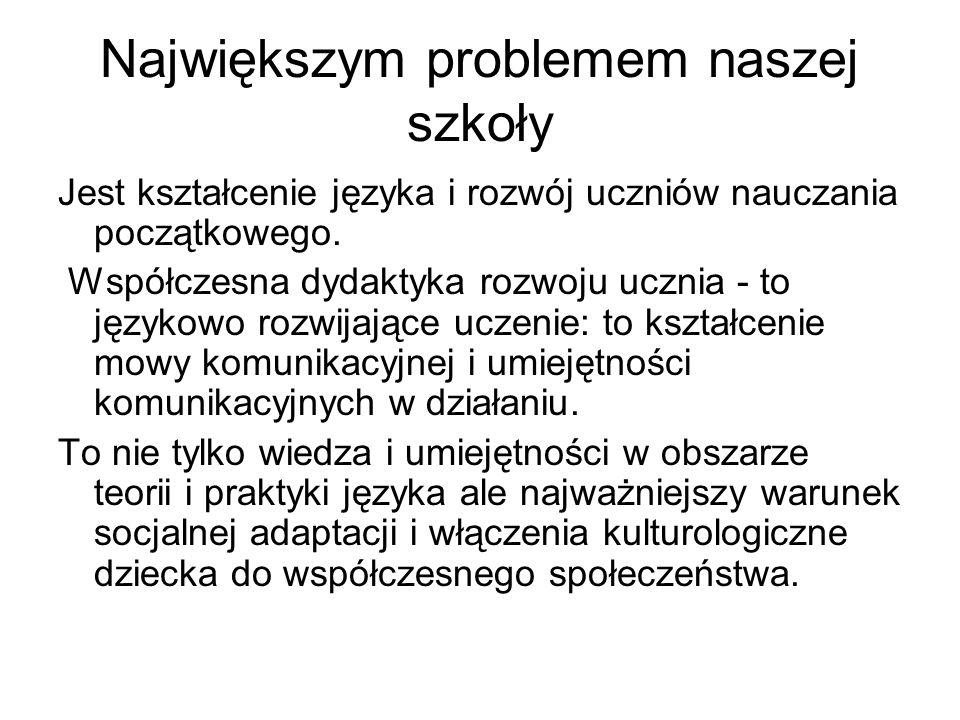 Największym problemem naszej szkoły
