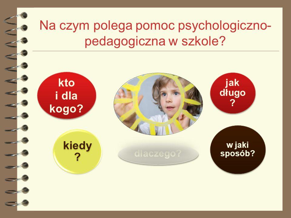 Na czym polega pomoc psychologiczno-pedagogiczna w szkole