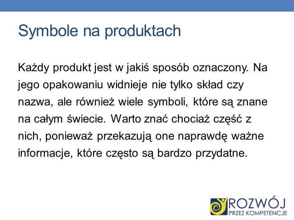 Symbole na produktach