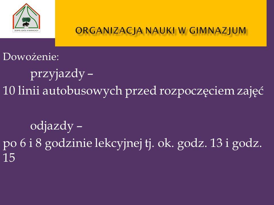 organizacja nauki w gimnazjum