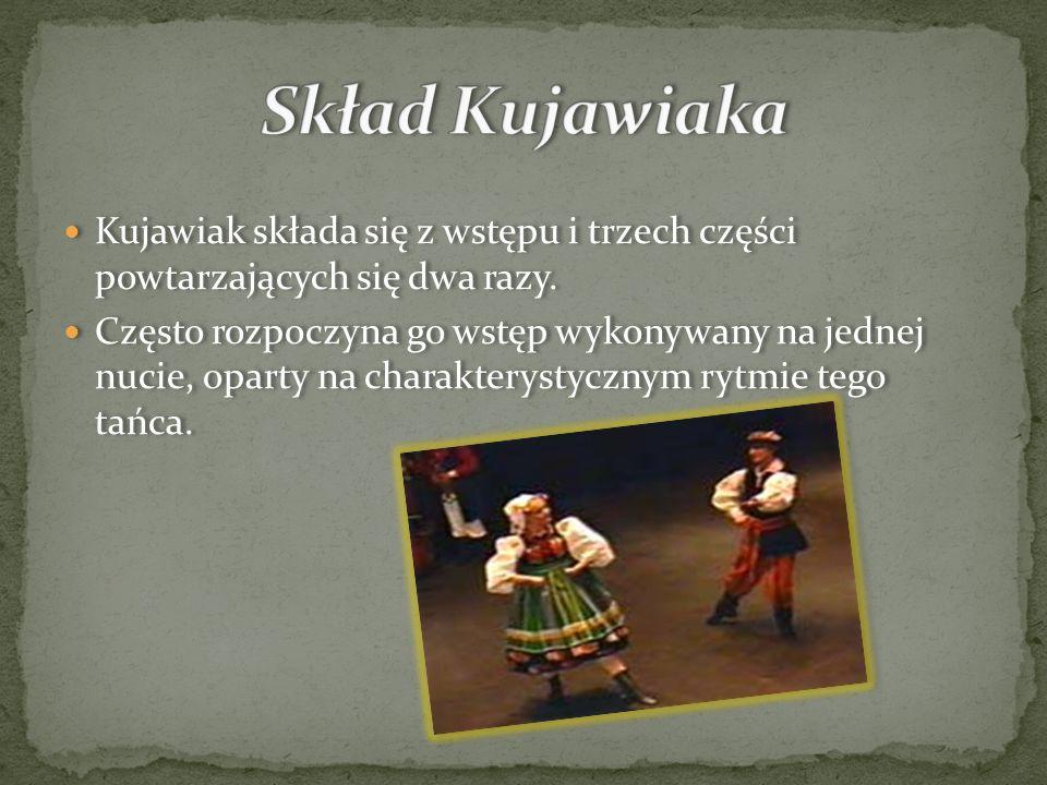 Skład KujawiakaKujawiak składa się z wstępu i trzech części powtarzających się dwa razy.