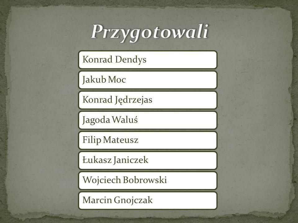 Przygotowali Konrad Dendys Jakub Moc Konrad Jędrzejas Jagoda Waluś