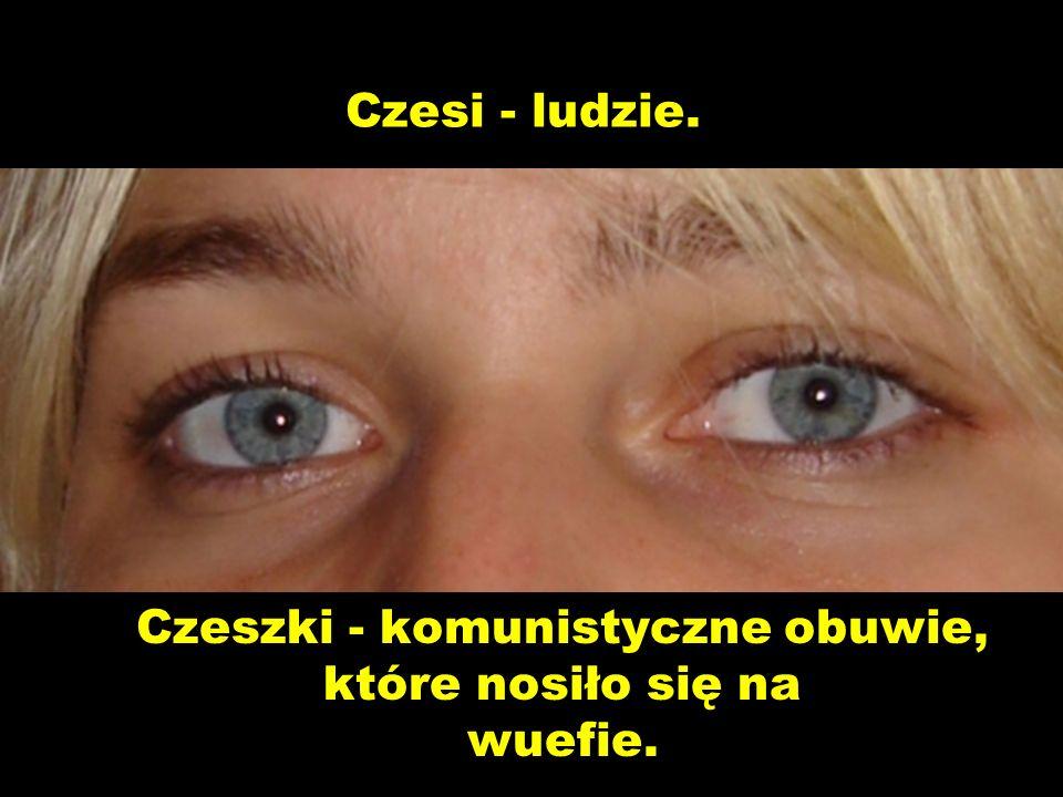 Czeszki - komunistyczne obuwie, które nosiło się na wuefie.