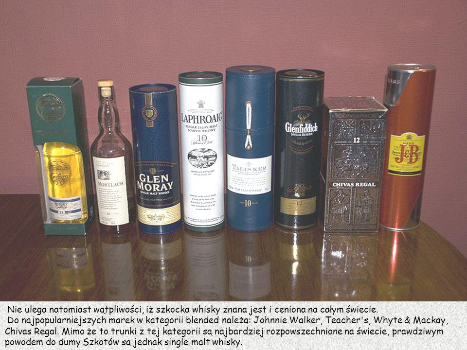 Nie ulega natomiast wątpliwości, iż szkocka whisky znana jest i ceniona na całym świecie.
