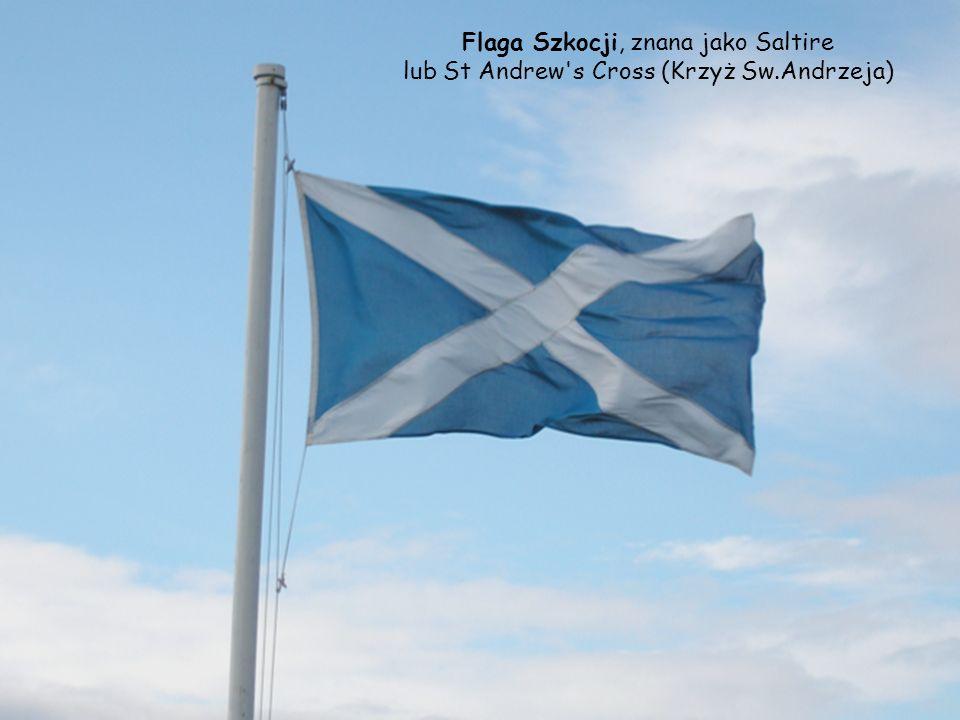Flaga Szkocji, znana jako Saltire