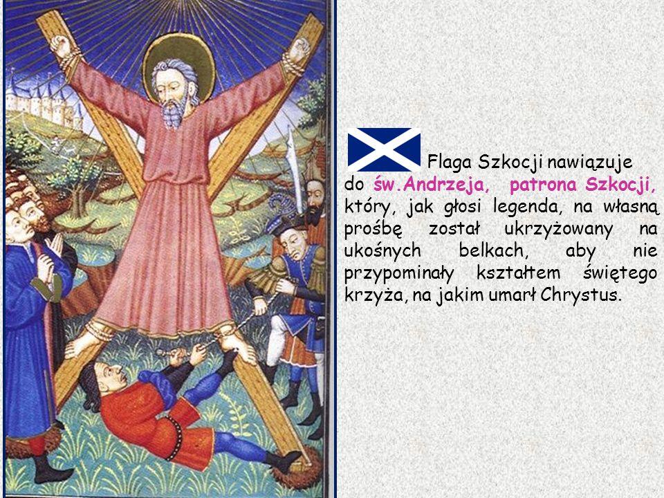 Flaga Szkocji nawiązuje