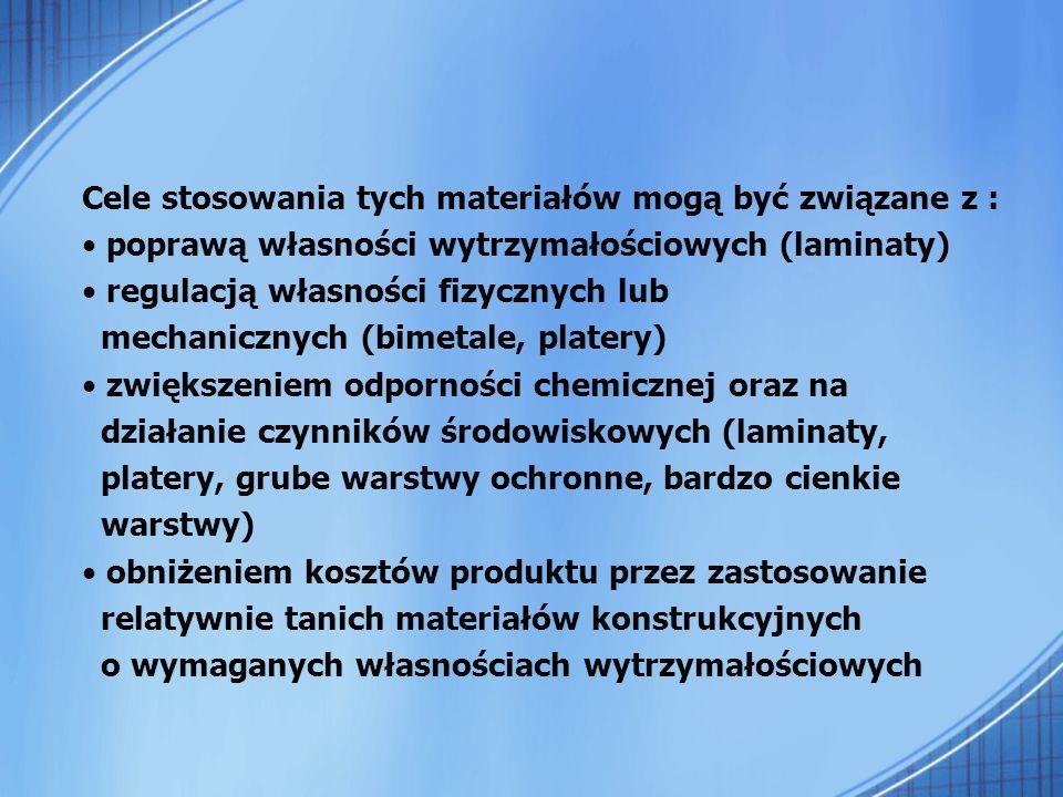 Cele stosowania tych materiałów mogą być związane z :