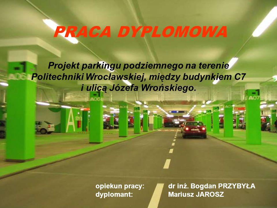 Projekt parkingu podziemnego na terenie