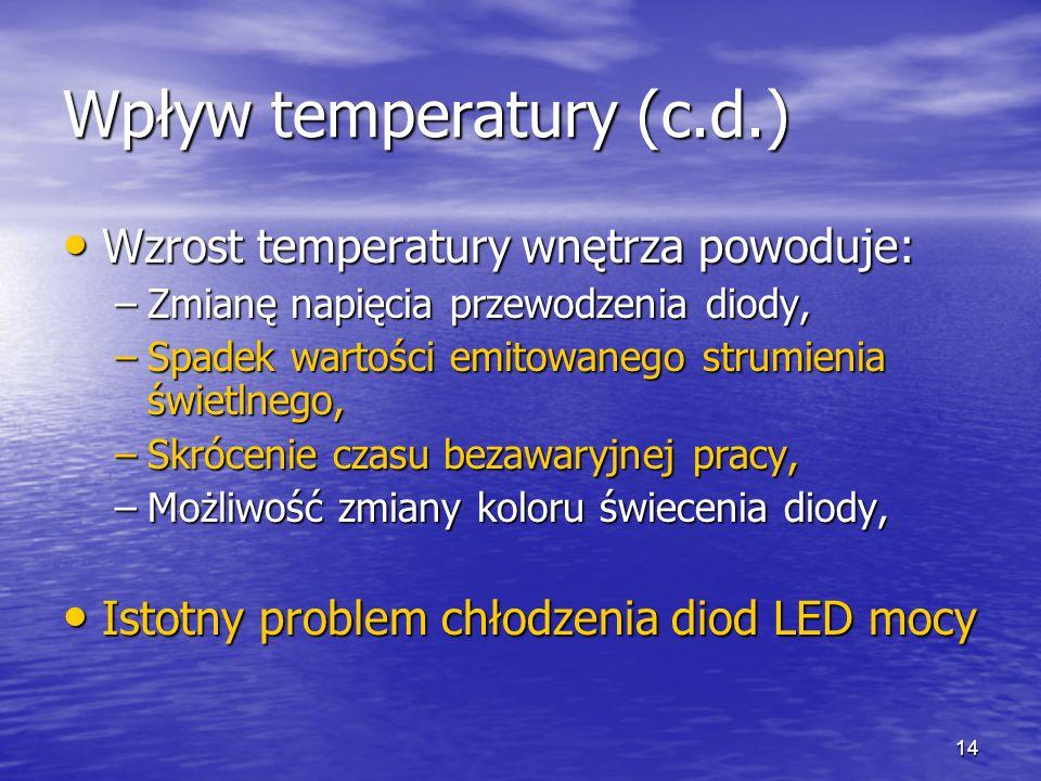 Wpływ temperatury (c.d.)