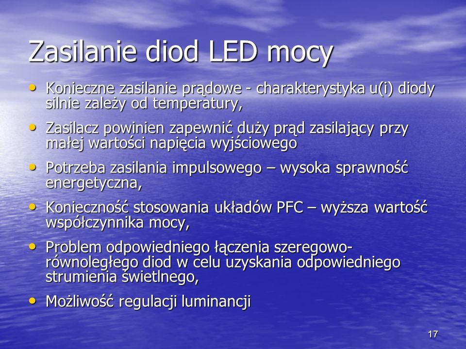 Zasilanie diod LED mocy