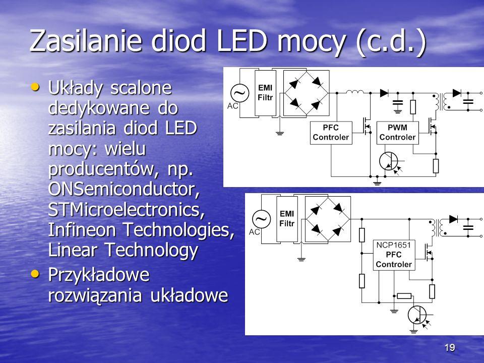 Zasilanie diod LED mocy (c.d.)