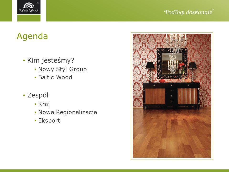 Agenda Kim jesteśmy Zespół Nowy Styl Group Baltic Wood Kraj