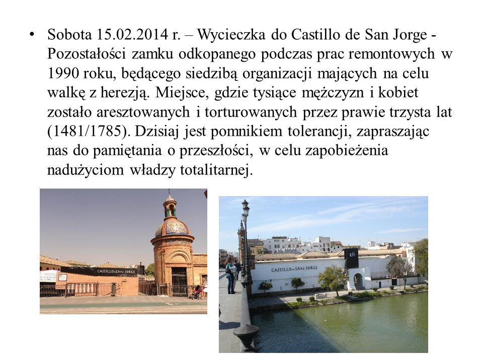 Sobota 15.02.2014 r.