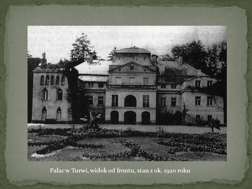 Pałac w Turwi, widok od frontu, stan z ok. 1920 roku