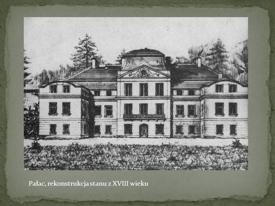 Pałac, rekonstrukcja stanu z XVIII wieku