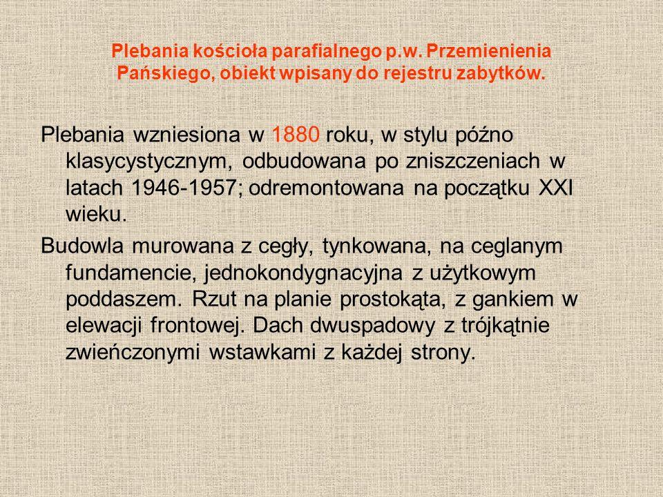 Plebania kościoła parafialnego p. w