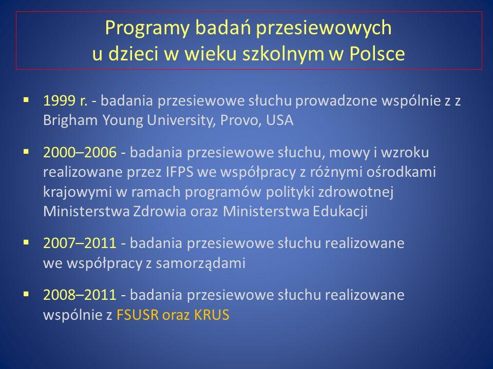 Programy badań przesiewowych u dzieci w wieku szkolnym w Polsce