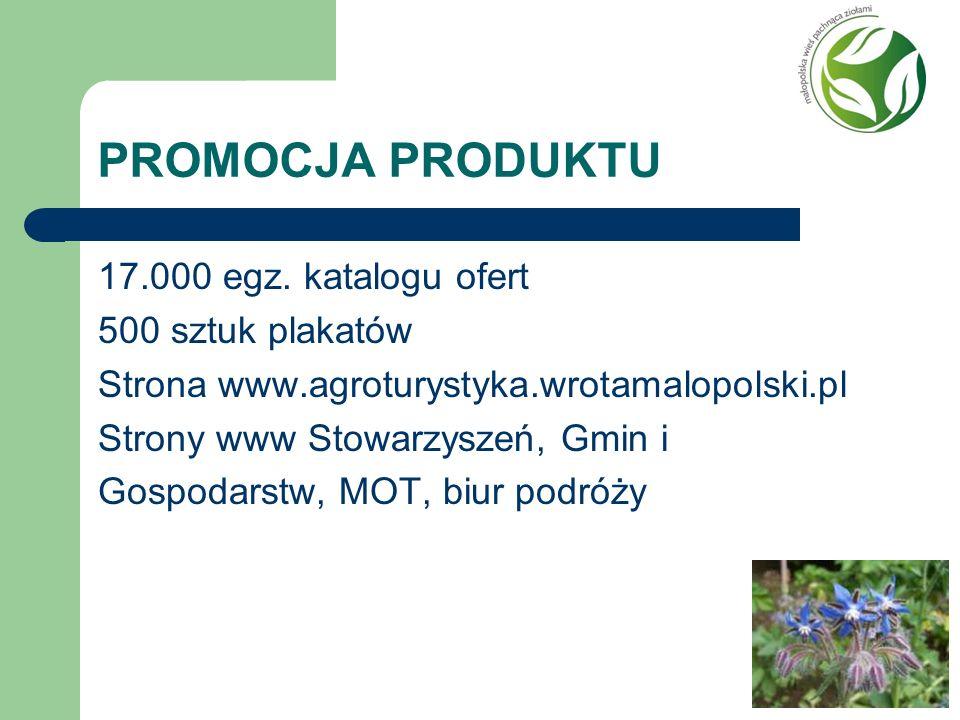 PROMOCJA PRODUKTU 17.000 egz. katalogu ofert 500 sztuk plakatów