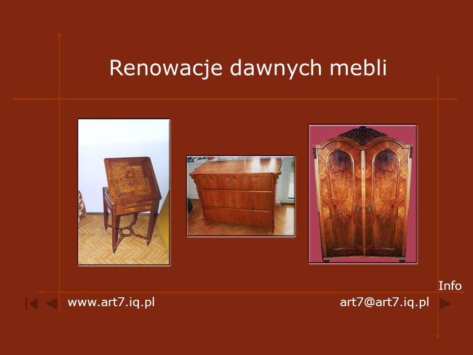 Renowacje dawnych mebli