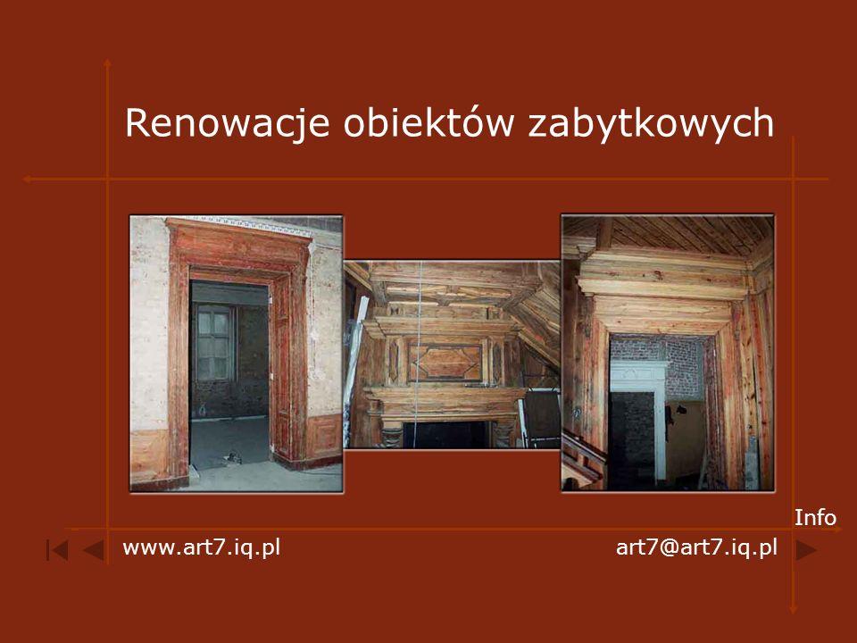 Renowacje obiektów zabytkowych