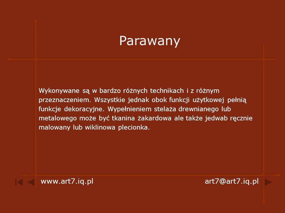 Parawany www.art7.iq.pl art7@art7.iq.pl