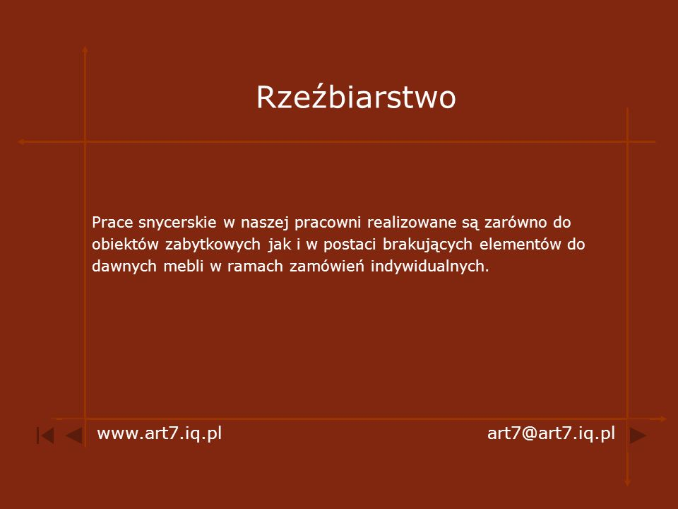 Rzeźbiarstwo www.art7.iq.pl art7@art7.iq.pl