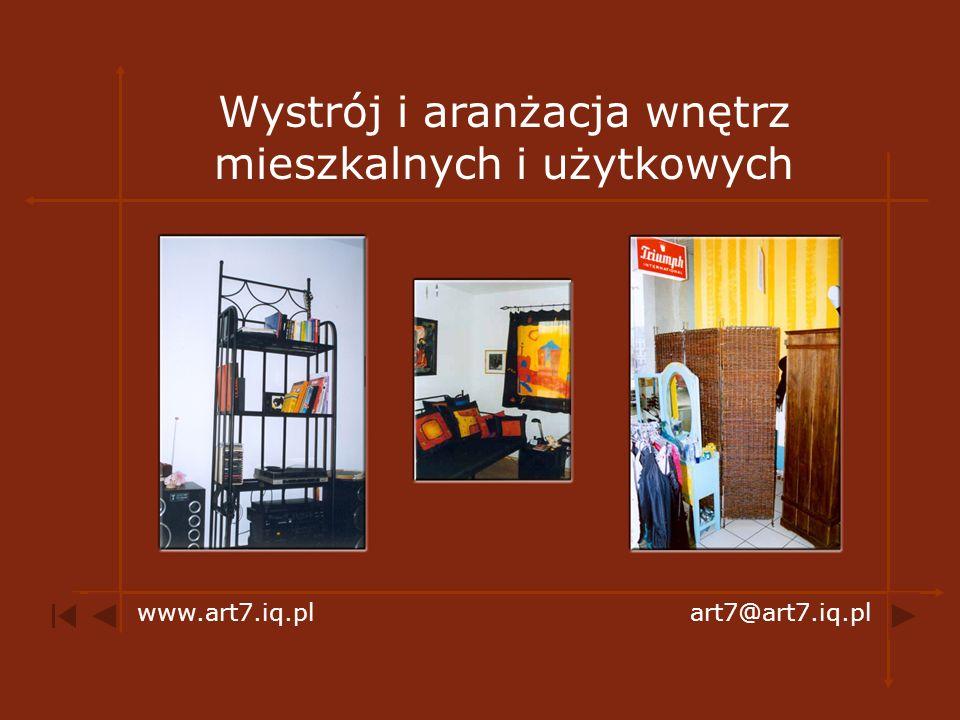 Wystrój i aranżacja wnętrz mieszkalnych i użytkowych